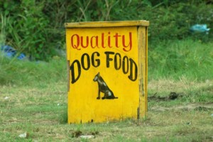 Roadside dog food stand